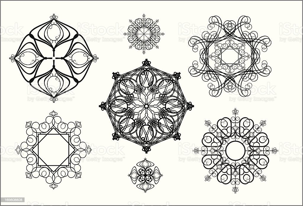 pattern for iron barred royalty-free stock vector art