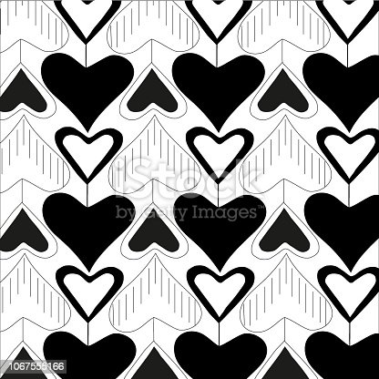 seamless pattern repetition heart love