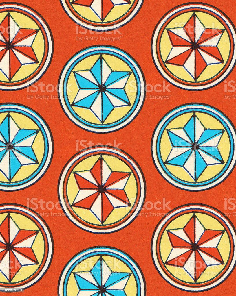 Pattern of Star Shapes royalty-free stock vector art