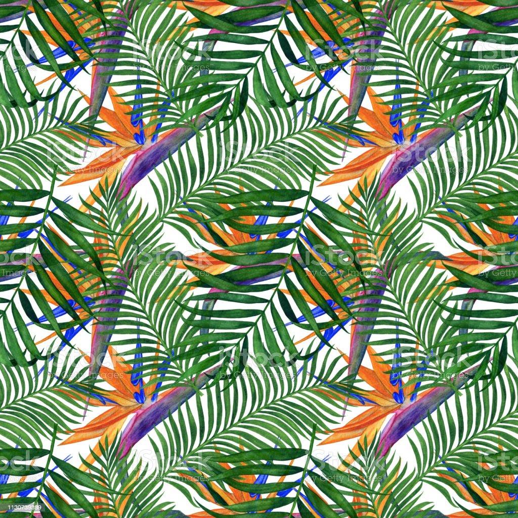 Papier A Peindre Motif motif avec des fleurs et des feuilles peinture À laquarelle