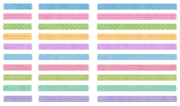 Patterned masking tapes This is an illustration of patterned masking tapes. masking tape stock illustrations