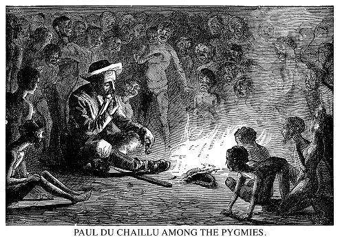 Paul Du Chaillu among the pygmies.