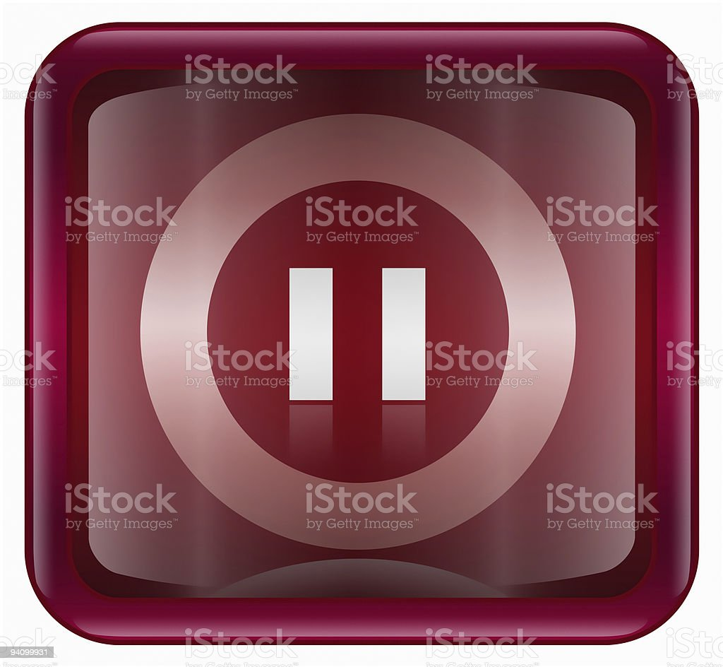 Pause icon, isolated on white background royalty-free stock vector art
