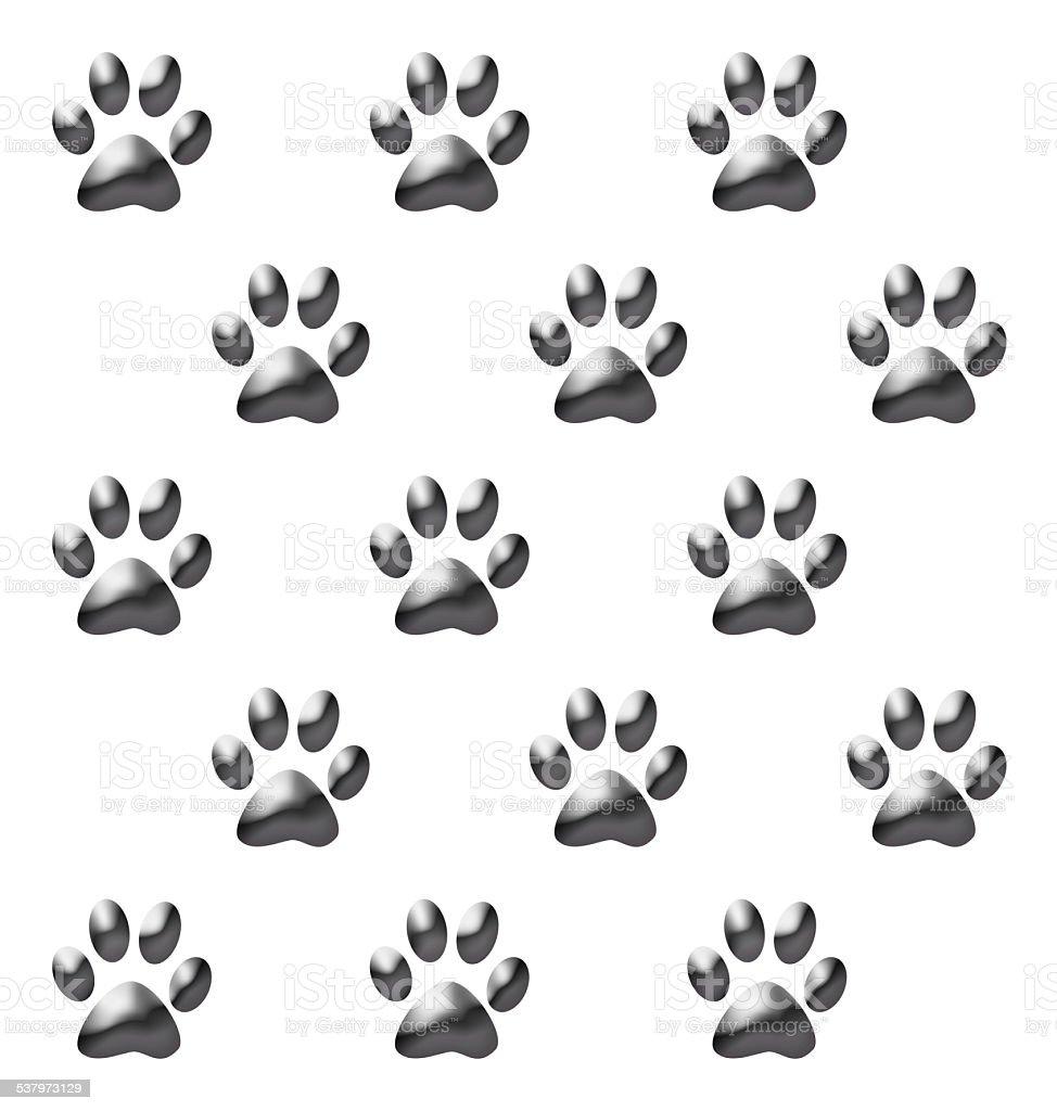 動物の足跡 のイラスト素材 537973129 | istock