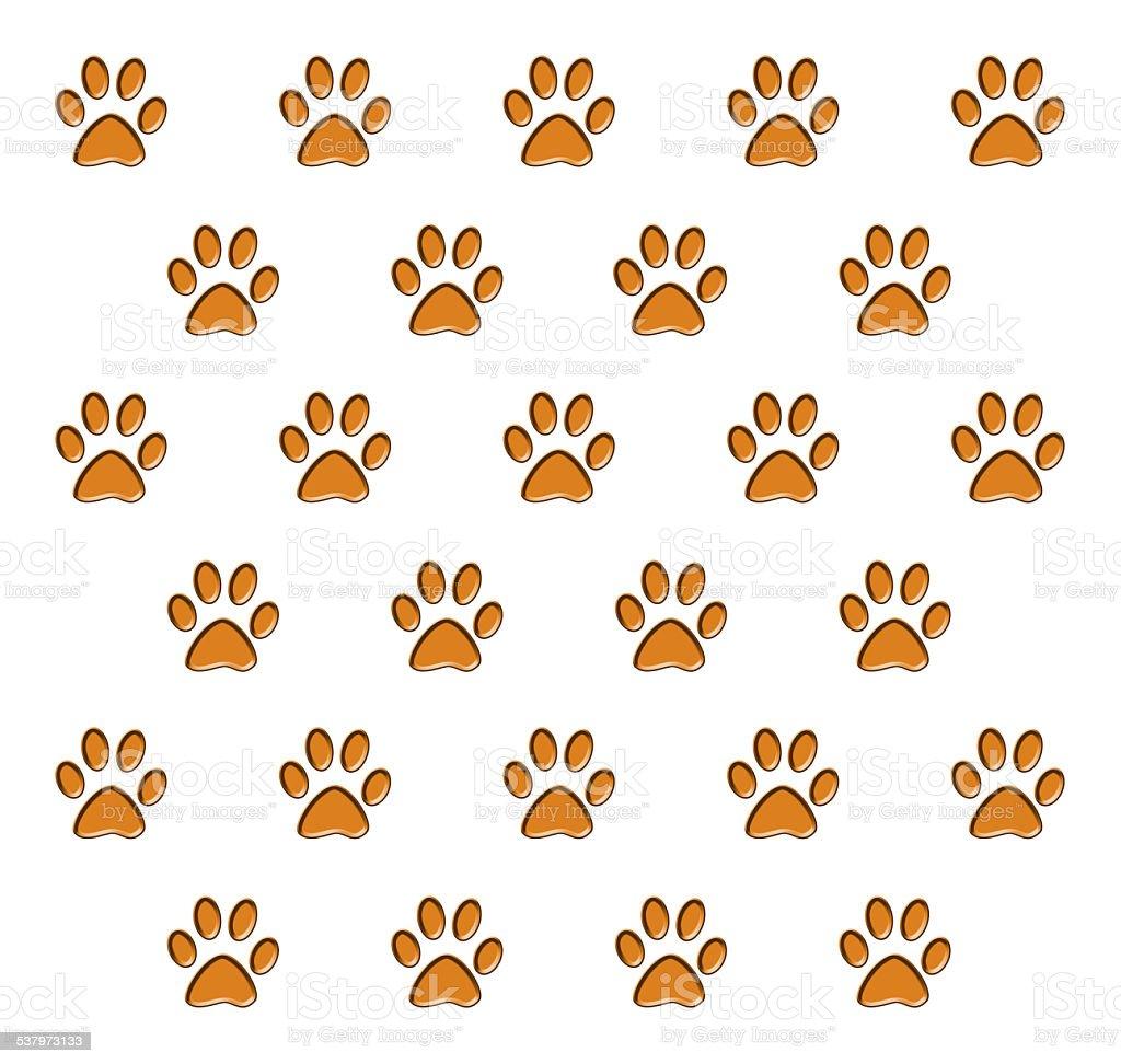 動物の足跡 のイラスト素材 537973133 | istock