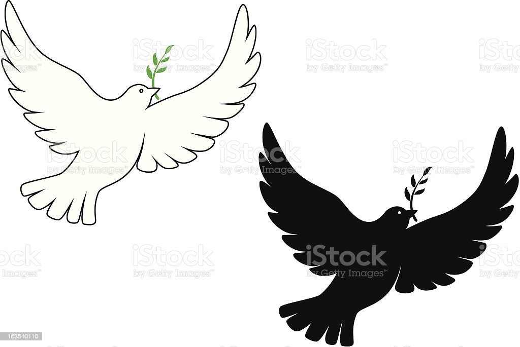 peace dove stock vector art more images of animal 163540110 istock rh istockphoto com dove vector silhouette dove vector free