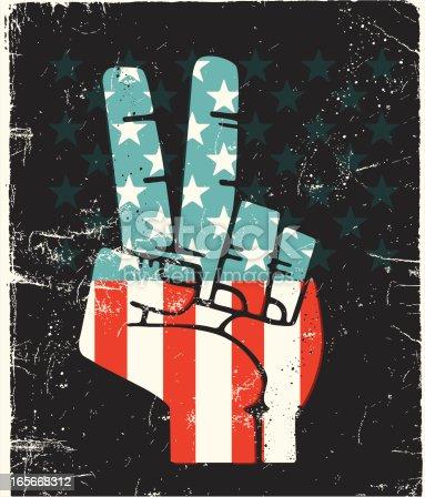 istock Peace Fingers USA 165668312