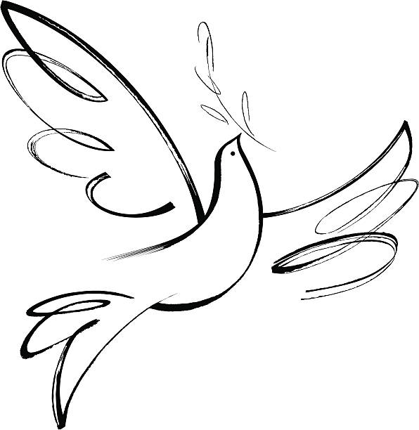 Peace Love Freedom  symbols of peace stock illustrations