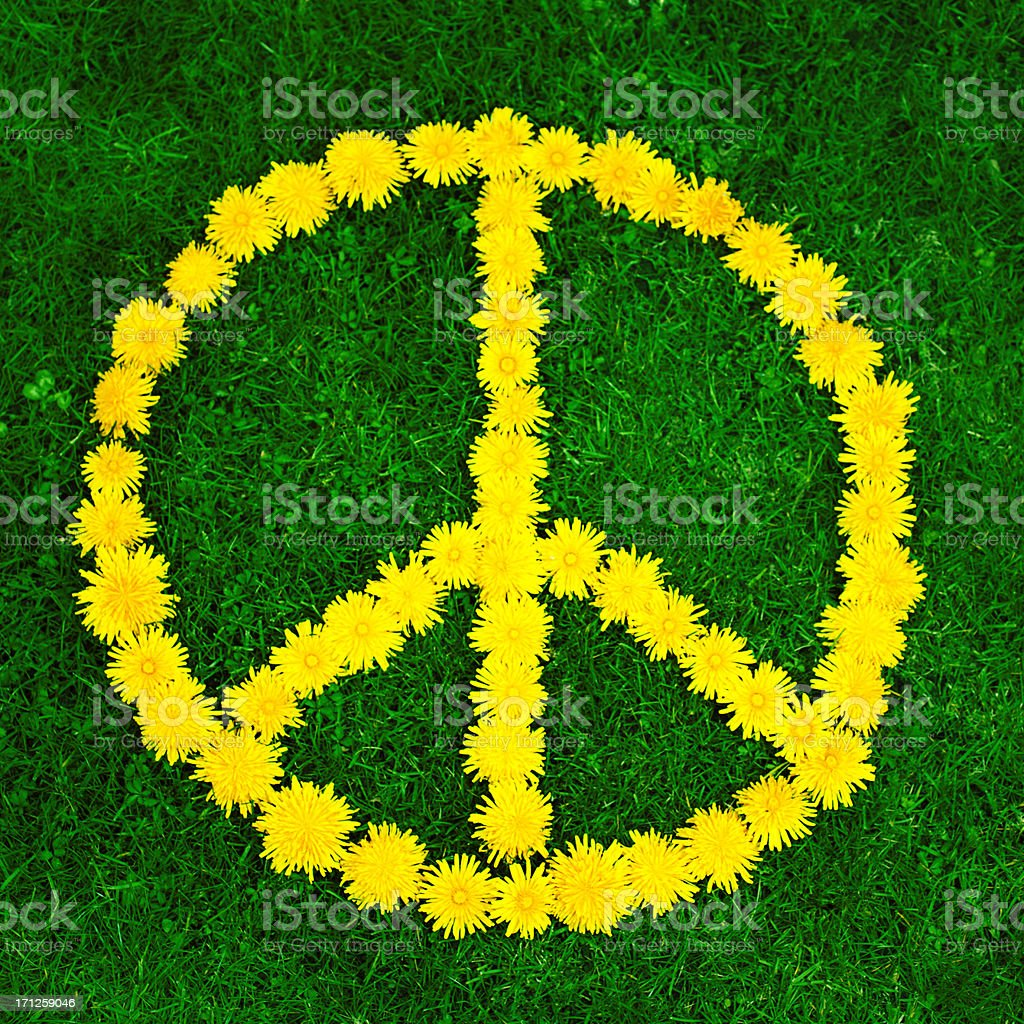 Peace sign vector art illustration