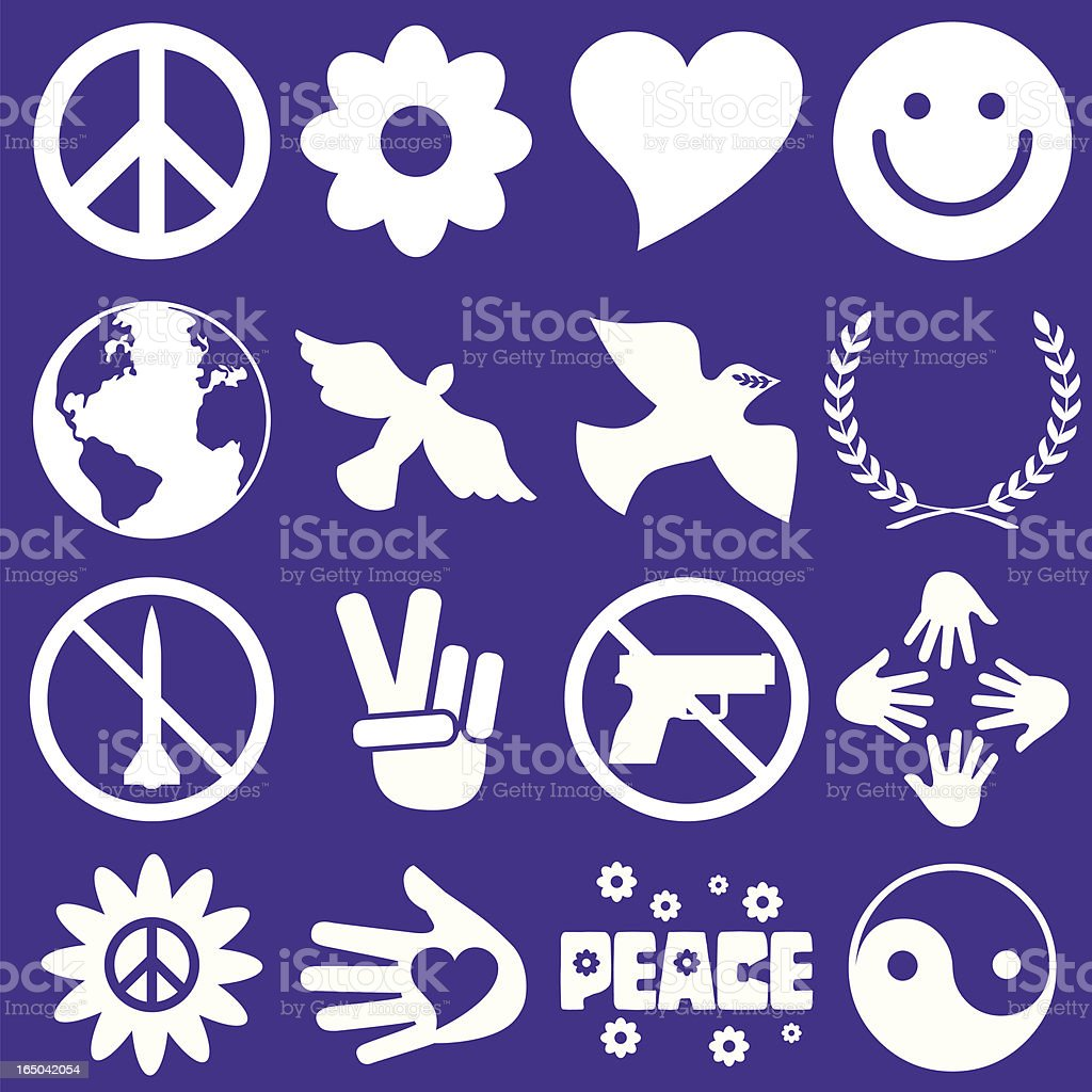 Peace symbols stock vector art more images of animal 165042054 peace symbols royalty free peace symbols stock vector art amp more images of animal biocorpaavc