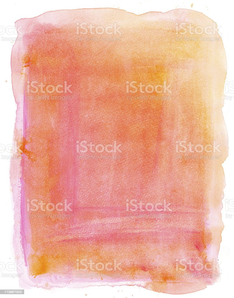 Peachy Watercolour Background royalty-free stock vector art