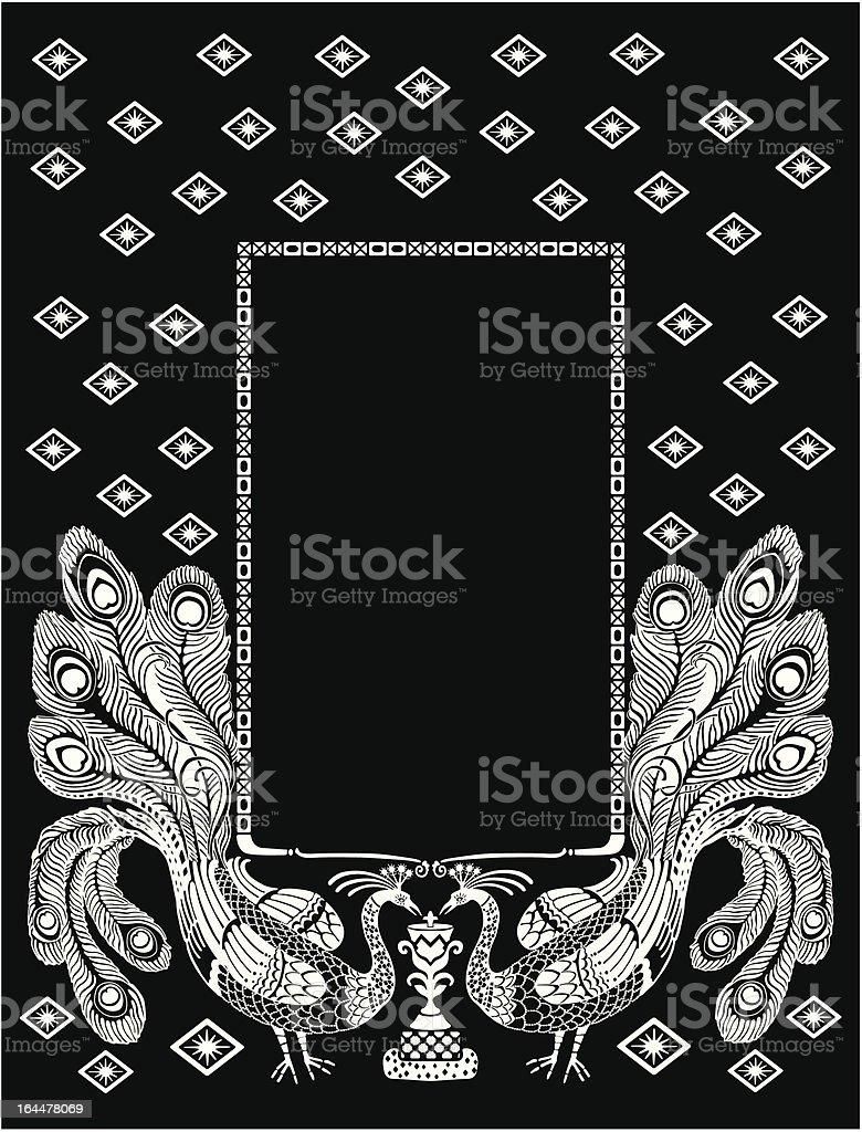 peacock frame royalty-free stock vector art