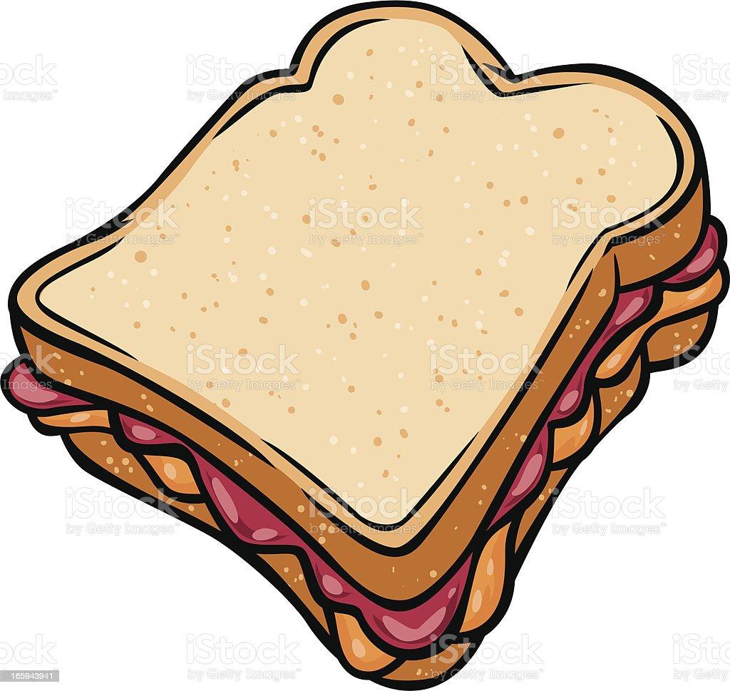 Peanut Butter Jelly Sandwich Stock Illustration - Download ...