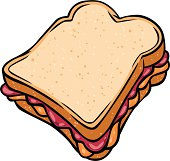 cartoon peanut butter jelly sandwich