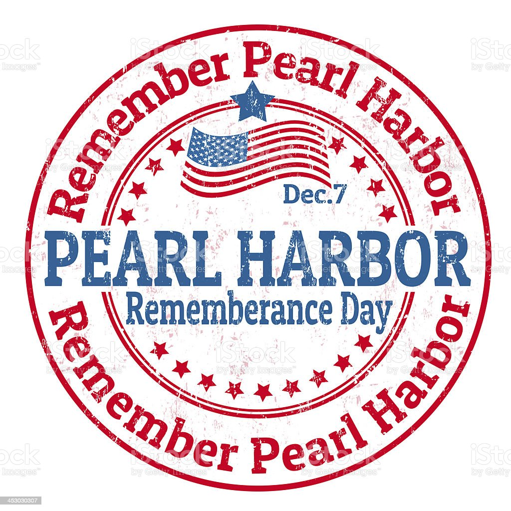 Pearl Harbor Rememberance Day stamp royalty-free stock vector art