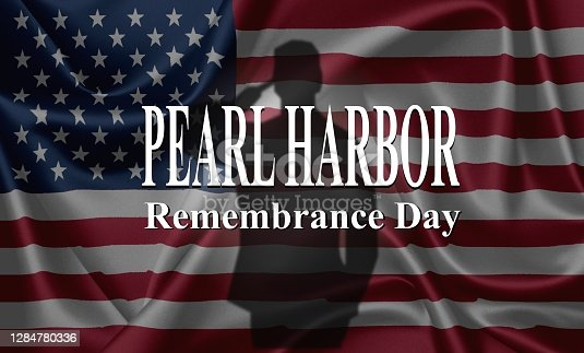 Pearl Harbor Remembrance, USA flag background
