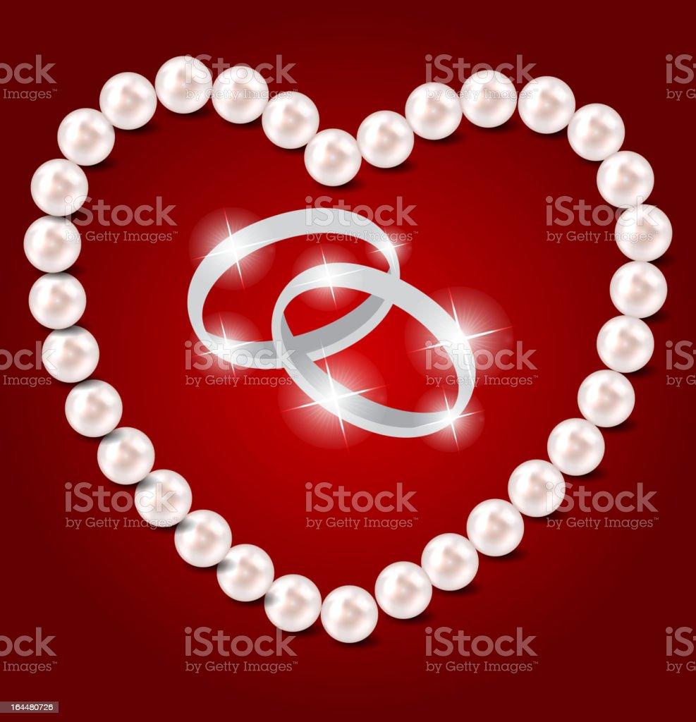 Pearl heart vector illustration background royalty-free stock vector art