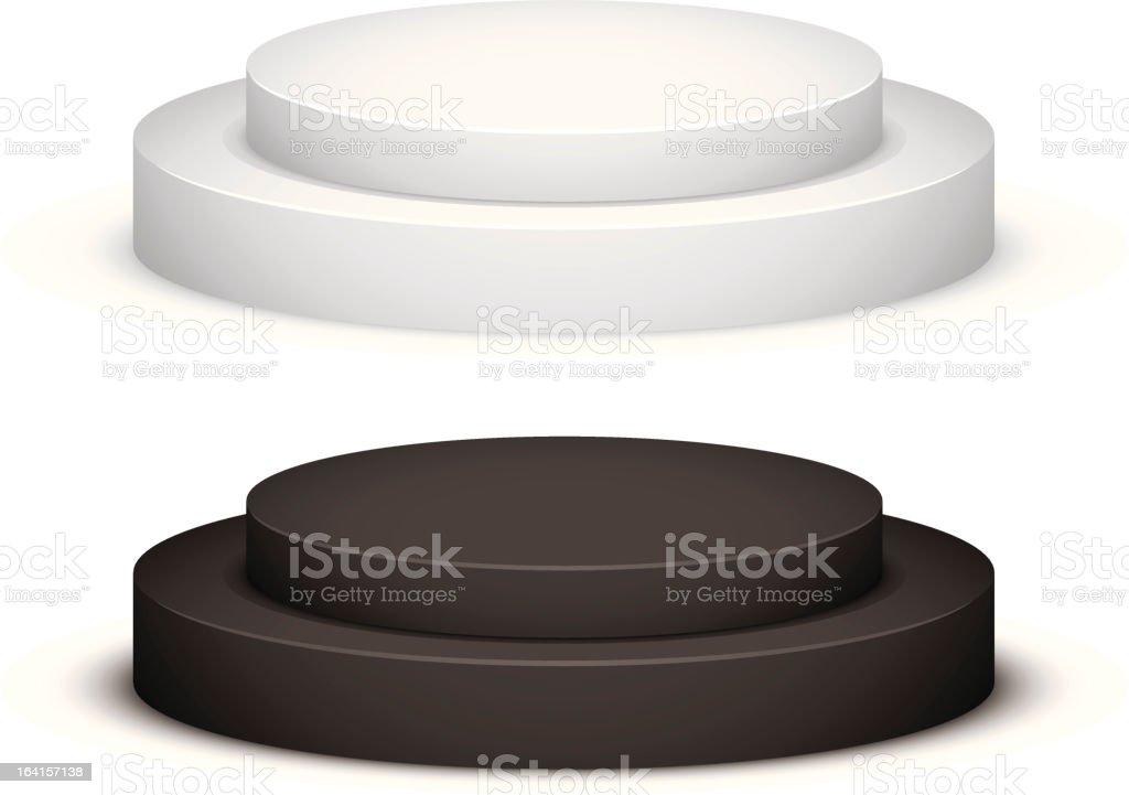 Pedestal vector art illustration