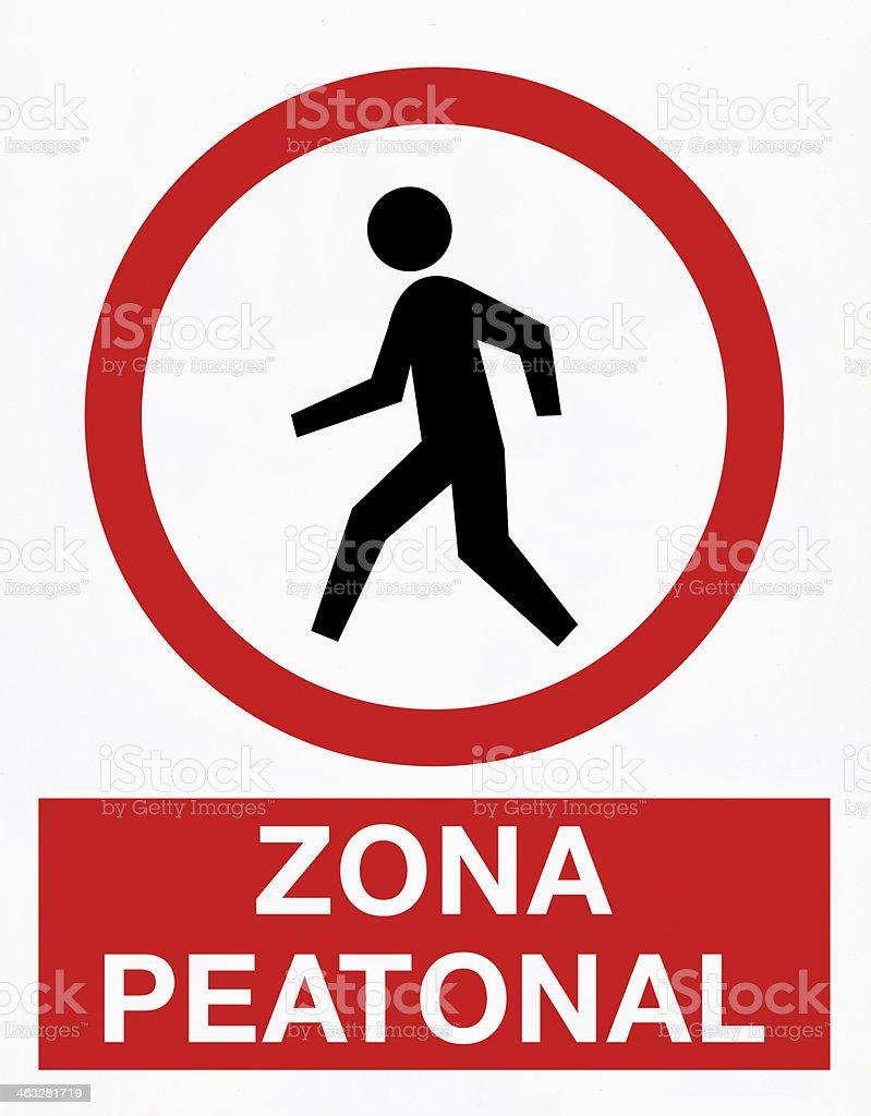 Zona de peatones - ilustración de arte vectorial