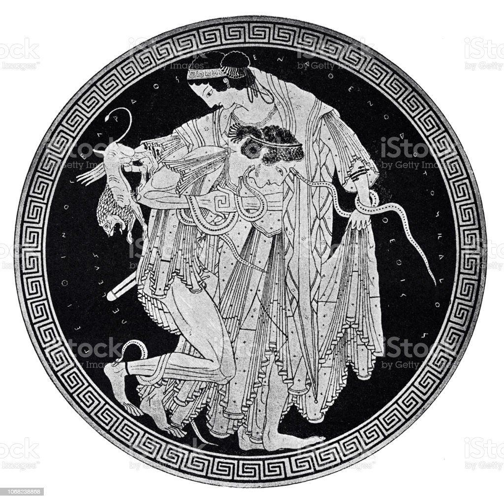 Peleus Wrestles With The Sea Goddess Thetis Stock