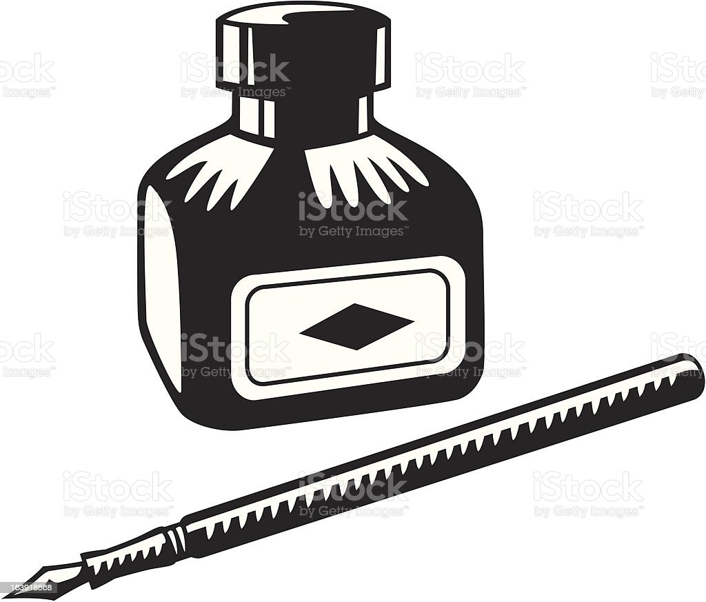 Pen and ink vector art illustration