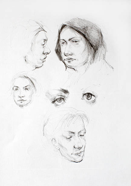 Pencil drawing vector art illustration