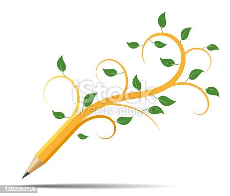 istock Pencil like a tree, concept acology 1302089108