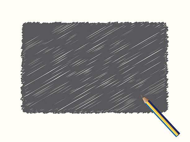Pencil Scribble vector art illustration