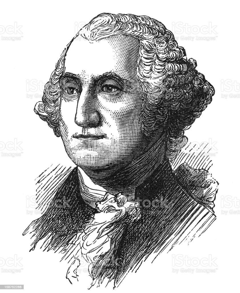 Pencil sketch of President George Washington royalty-free stock vector art