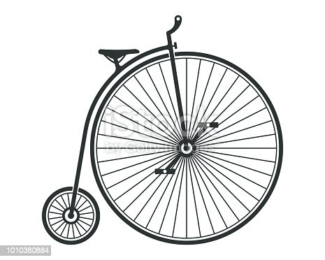 High wheel penny farthing bicycle.