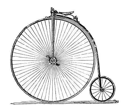 Illustration of a Penny-farthing bicycle