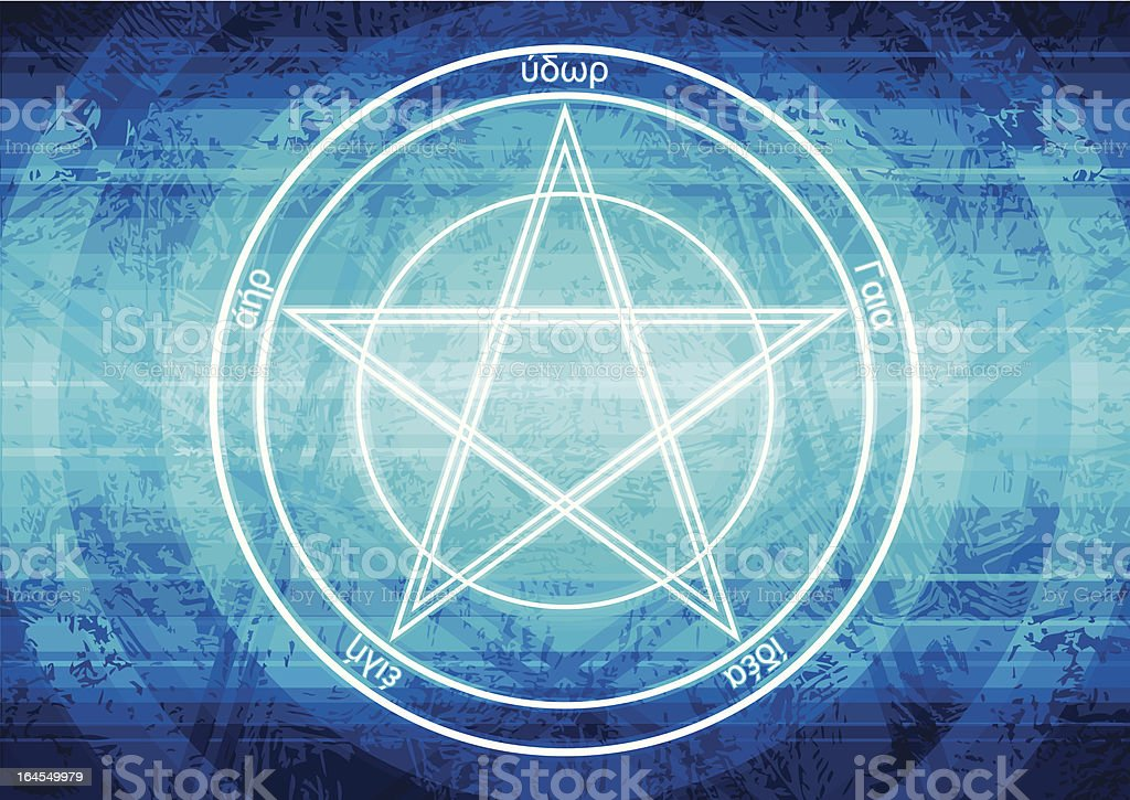 Pentagram background vector art illustration