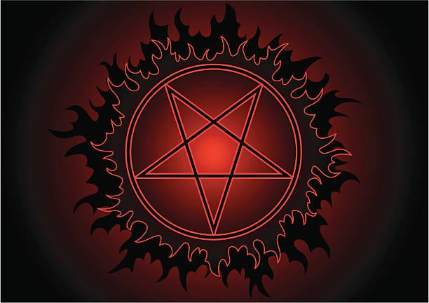 pentagram - kultfilme stock-grafiken, -clipart, -cartoons und -symbole