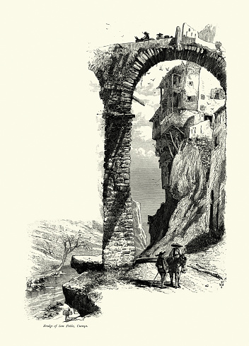 People, Bridge of San Pablo, Cuenca, Spain, 19th Century
