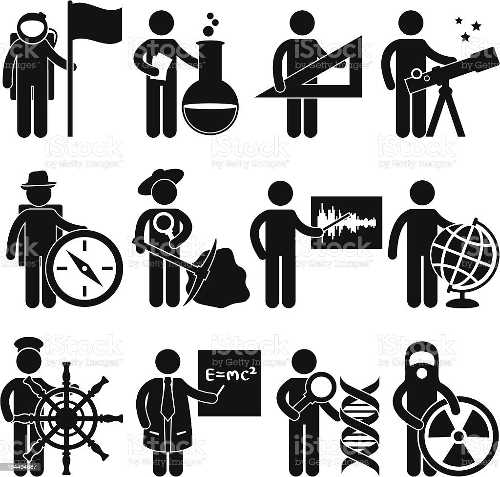People Career Occupation Pictogram vector art illustration