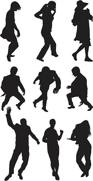stockillustraties, clipart, cartoons en iconen met people dancing - menselijke arm