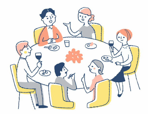 249 Round Table Dinner Stock Photos Pictures Royalty Free Images Istock