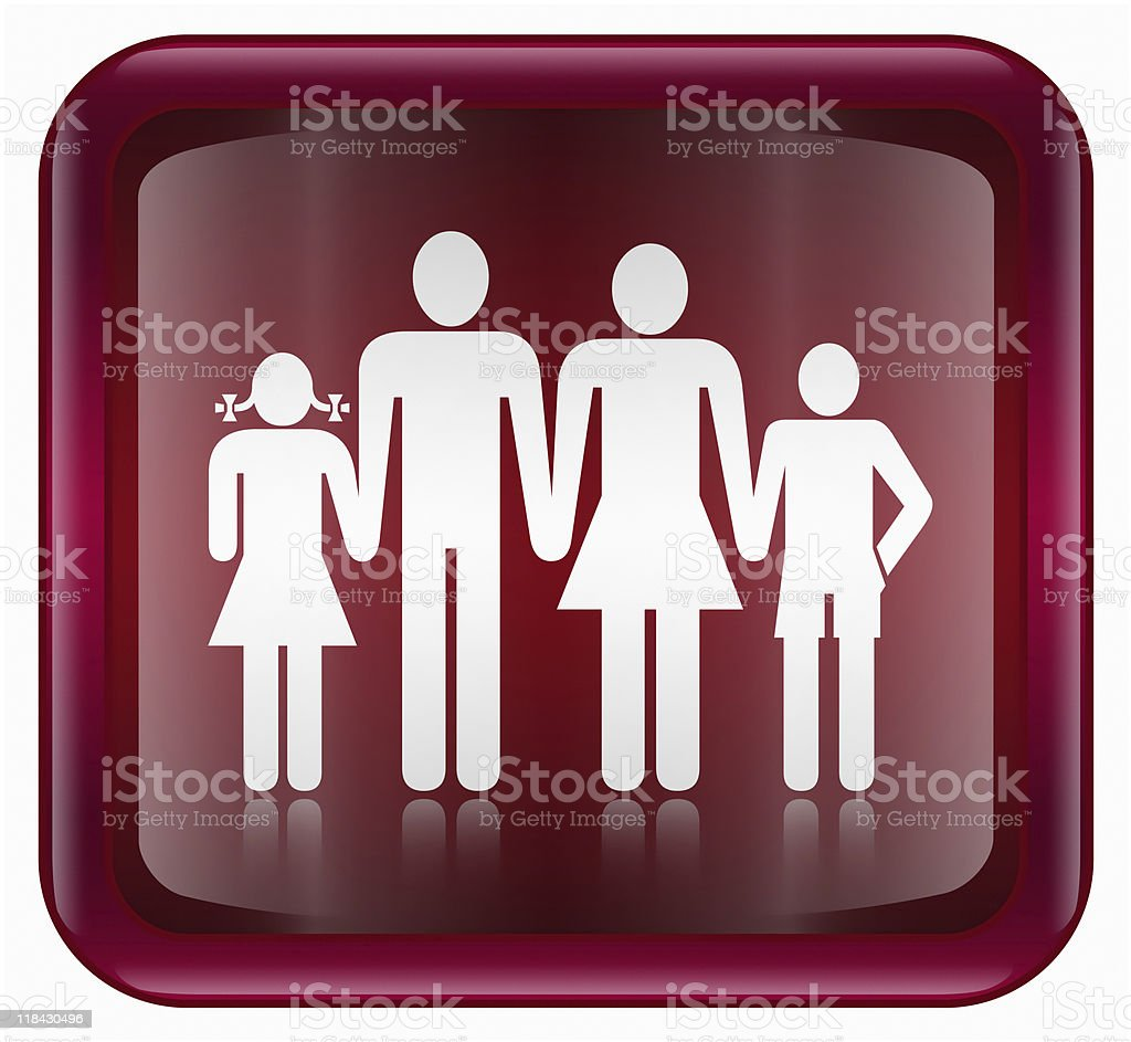 people icon dark red, isolated on white background. royalty-free stock vector art