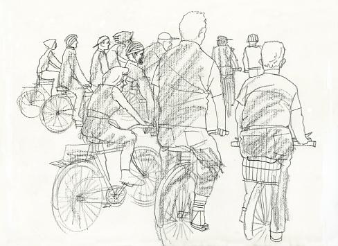 People in bikes