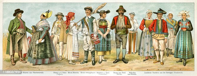 People in traditional clothing Original edition from my own archives Source :