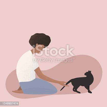 People living with pets, man, women, pet adoption.