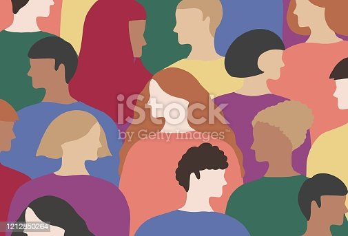 istock LGBTQI people wears rainbow colored clothes 1212850264