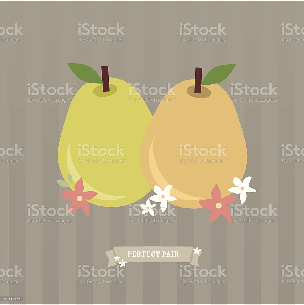 Perfect Pair vector art illustration