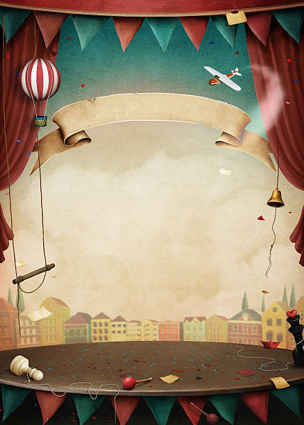 performance background - circus stock illustrations