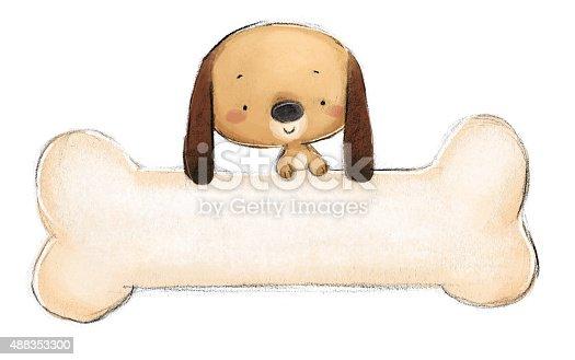istock perro con hueso gigante 488353300