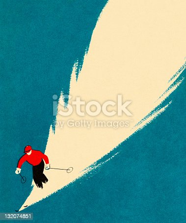 Person Downhill Skiing