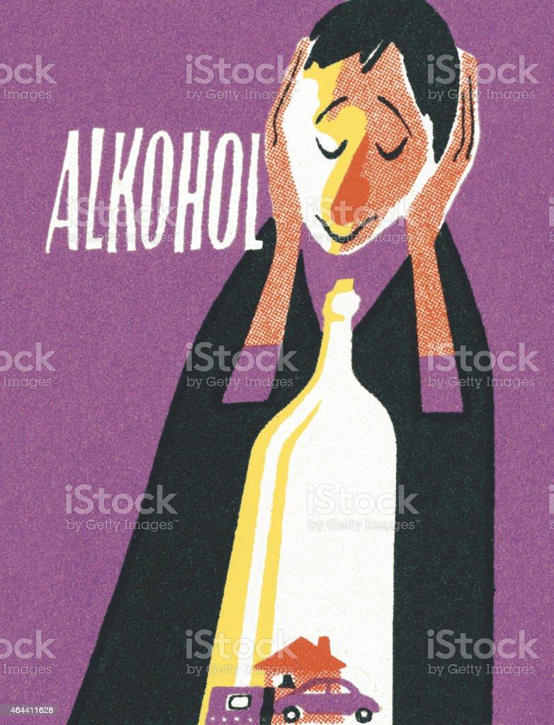 Person Drinking vector art illustration