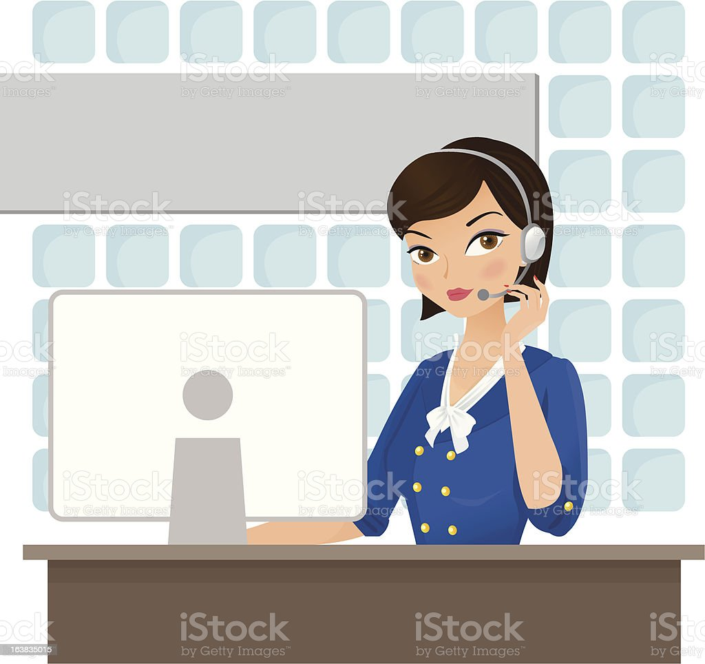 Personal assistant royalty-free stock vector art