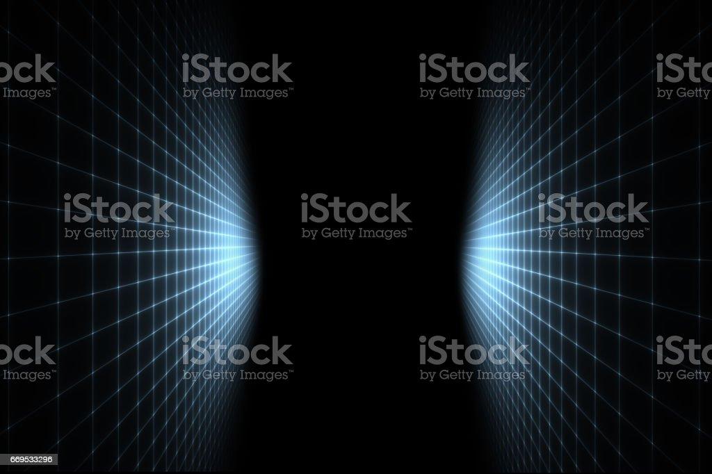 Perspektive im virtuellen Raum – Vektorgrafik