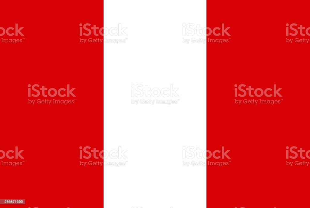 ペルー国旗 ベクターアートイラスト